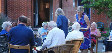 Summer garden party at the almshouses